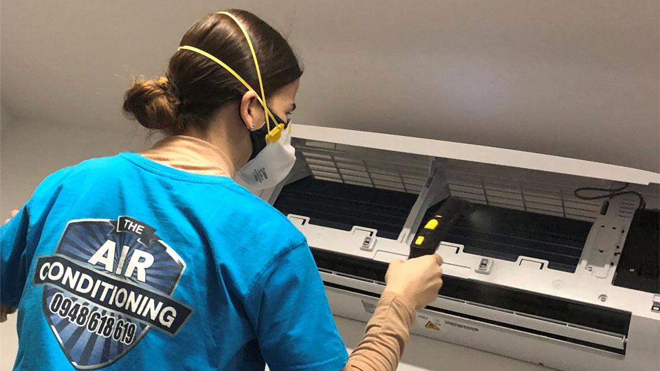 Servis klimatizácie, Klimatizácia - Parné čistenie