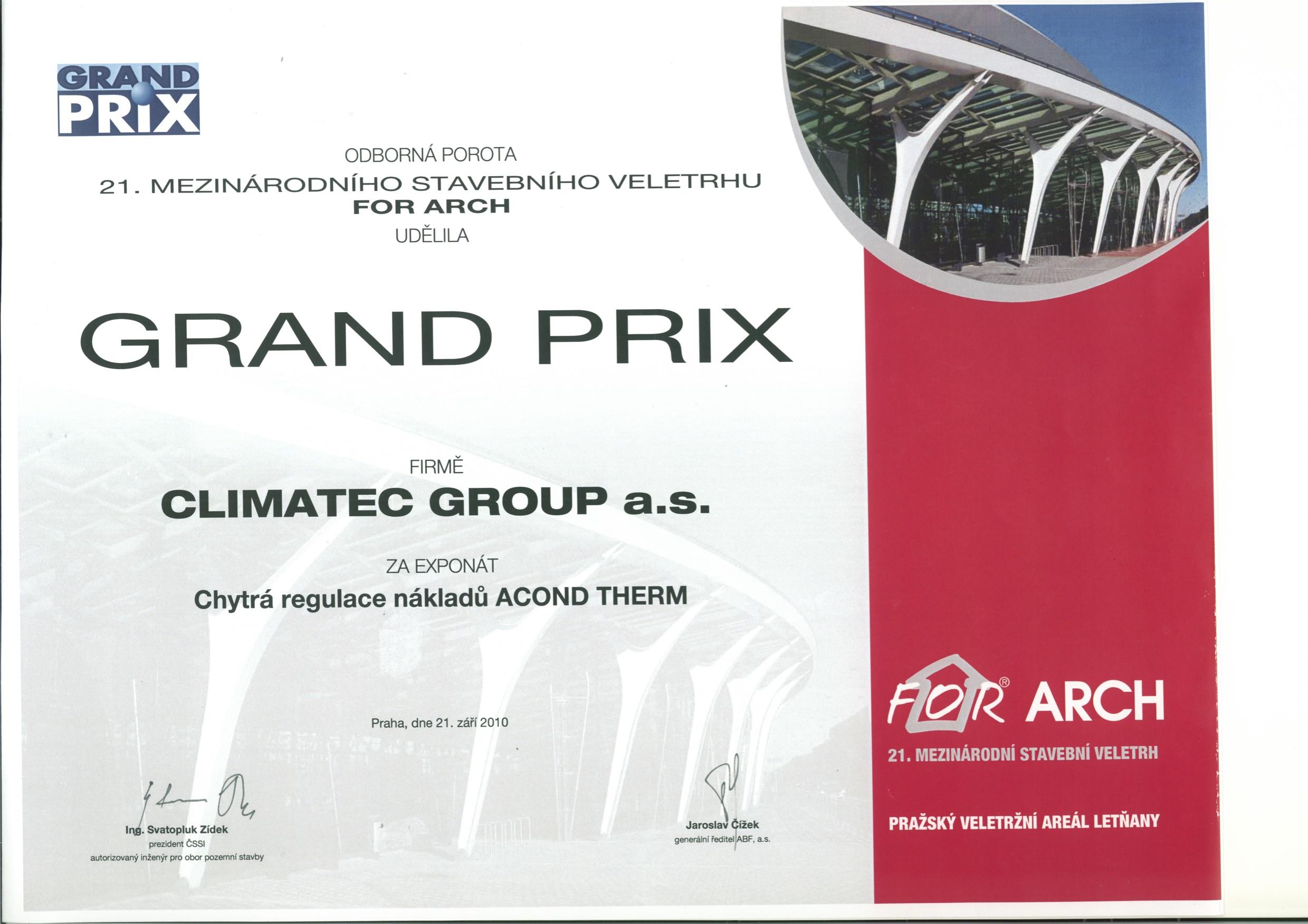 Ocenenie ForArch2010